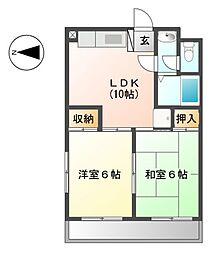 東京都武蔵野市境南町2丁目の賃貸マンションの間取り