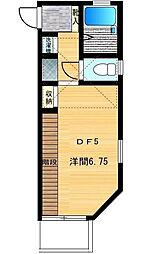 東京都中野区本町3丁目の賃貸アパートの間取り