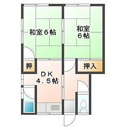 広島県呉市和庄本町の賃貸アパートの間取り