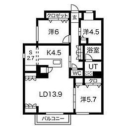 (仮称)月見ヶ岡弥富町新築マンション[2階]の間取り