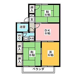 セジュール東曙B棟[2階]の間取り