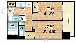 エステムプラザ福島ジェネル[2階]の間取り