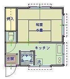 東京都世田谷区赤堤3丁目の賃貸アパートの間取り