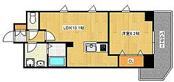 JR東海道・山陽本線 灘駅 徒歩2分の賃貸マンション 2階1LDKの間取り