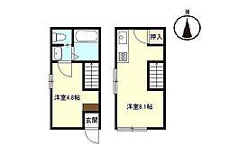 casa cozy隅の浜[1階]の間取り