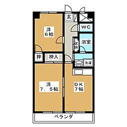 KDSマンション[1階]の間取り