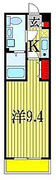 JR総武線 船橋駅 徒歩22分の賃貸アパート 2階1Kの間取り