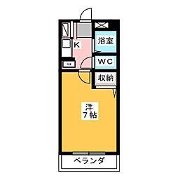 愛知県名古屋市千種区観月町2の賃貸マンションの間取り