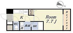 アドバンス大阪ベイストリート[7階]の間取り