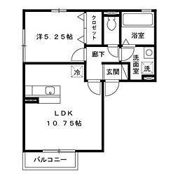 ルーチェ・28 B[2階]の間取り