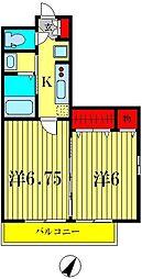 ラ カンパネラ[2階]の間取り