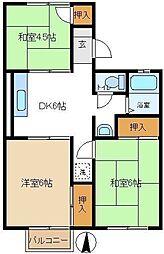 第1ロイヤルハイツ 205[2階]の間取り