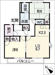 イチゴハウスA棟[2階]の間取り