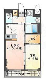 Osaka Metro御堂筋線 新金岡駅 徒歩10分の賃貸マンション 1階1LDKの間取り