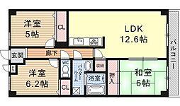 大翔第二ビル[1003号室号室]の間取り