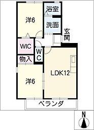 L'Untieune A棟[1階]の間取り