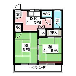 丸米コーポ[3階]の間取り