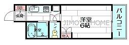 グランコート江坂[5階]の間取り