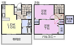 [テラスハウス] 三重県松阪市中万町 の賃貸【/】の間取り