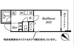 ロワール横濱関内[8階]の間取り