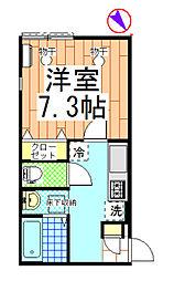 コンフォート松波[102号室]の間取り