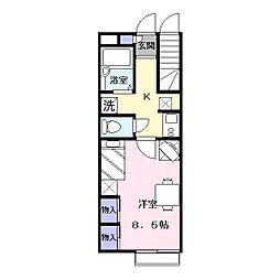 レオパレスSHOW[1階]の間取り