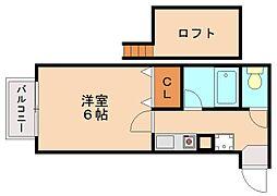 サンフォーレスト井尻[1階]の間取り