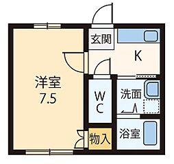 しらゆり荘[102号室]の間取り