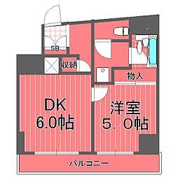 リーヴ西横浜レジデンス[5階]の間取り