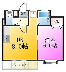 東京都江戸川区江戸川5丁目の賃貸マンションの間取り