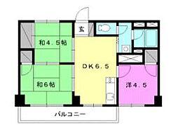 空港マンション[303 号室号室]の間取り