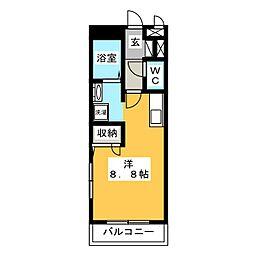 エトワール[3階]の間取り