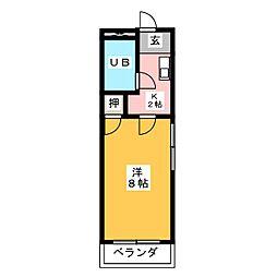 ベストハイツ三ツ井[1階]の間取り