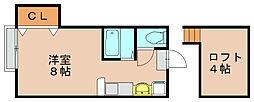 ビューハイツII[2階]の間取り