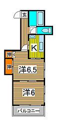 プリンスヴィル浅倉[2階]の間取り