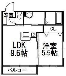 エアフォルク手稲[2階]の間取り
