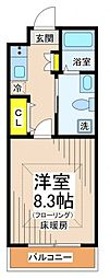 ルーブル烏山壱番館[2階]の間取り