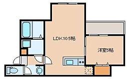 仮)リテラ吉塚東 2階1LDKの間取り