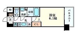 プレサンスOSAKA三国ネオス 10階1Kの間取り