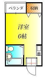 JPアパートメント藤井寺[2階]の間取り