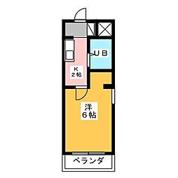 OMレジデンス岩倉[3階]の間取り