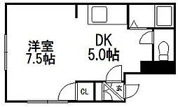 ルミエール東札幌[101号室]の間取り