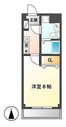 愛知県名古屋市中川区外新町2丁目の賃貸マンションの間取り