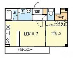 東京都世田谷区鎌田4丁目の賃貸マンションの間取り