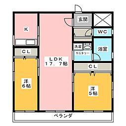 グランプラス覚王山[2階]の間取り