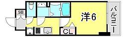 JR山陽本線 兵庫駅 徒歩2分の賃貸マンション 3階1Kの間取り