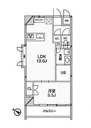 東京メトロ千代田線 千駄木駅 徒歩2分の賃貸マンション 2階1LDKの間取り