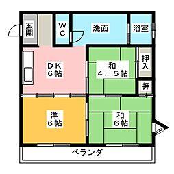 シャトール神田[2階]の間取り