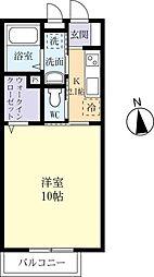 JR常磐線 土浦駅 バス20分 西真鍋下車 徒歩3分の賃貸アパート 2階1Kの間取り