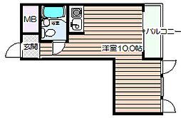 豊崎パークハイツ[4階]の間取り